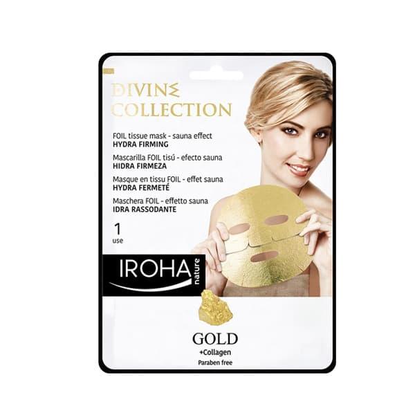 Mascarilla Facial de Foil Hidra Firming con Oro 24K y Colágeno