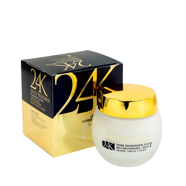 24K Crema Facial Noche Multireparadora Regenerador Celular Gold Progress
