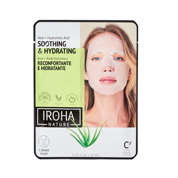 Mascarilla Facial Reconfortante e Hidratante con Aloe Vera y Ácido Hialurónico