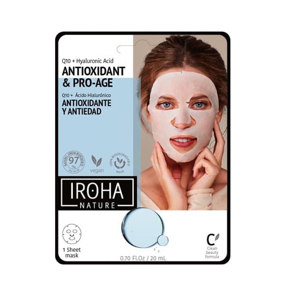 Mascarilla Facial Antioxidante y Antiedad con Q10 y Ácido Hialurónico