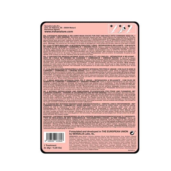 Calcetines Mascarilla Reparadores y Relajantes con Aceite de Semilla de Cáñamo