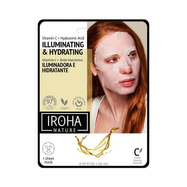 Mascarilla Facial Iluminadora e Hidratante con Vitamina C Pura y Ácido Hialurónico