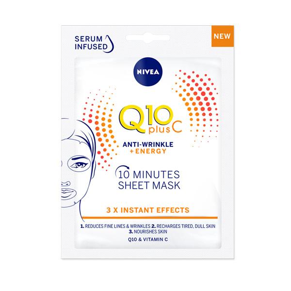 Q10 Plus C Mascarilla de Tejido Antiarrugas + Energizante